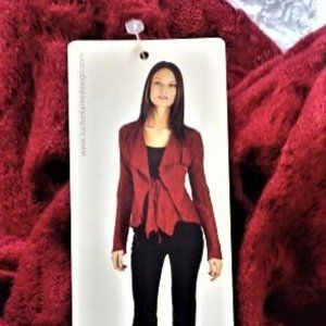 NWT designer Luc Fontaine red waterfall ca…
